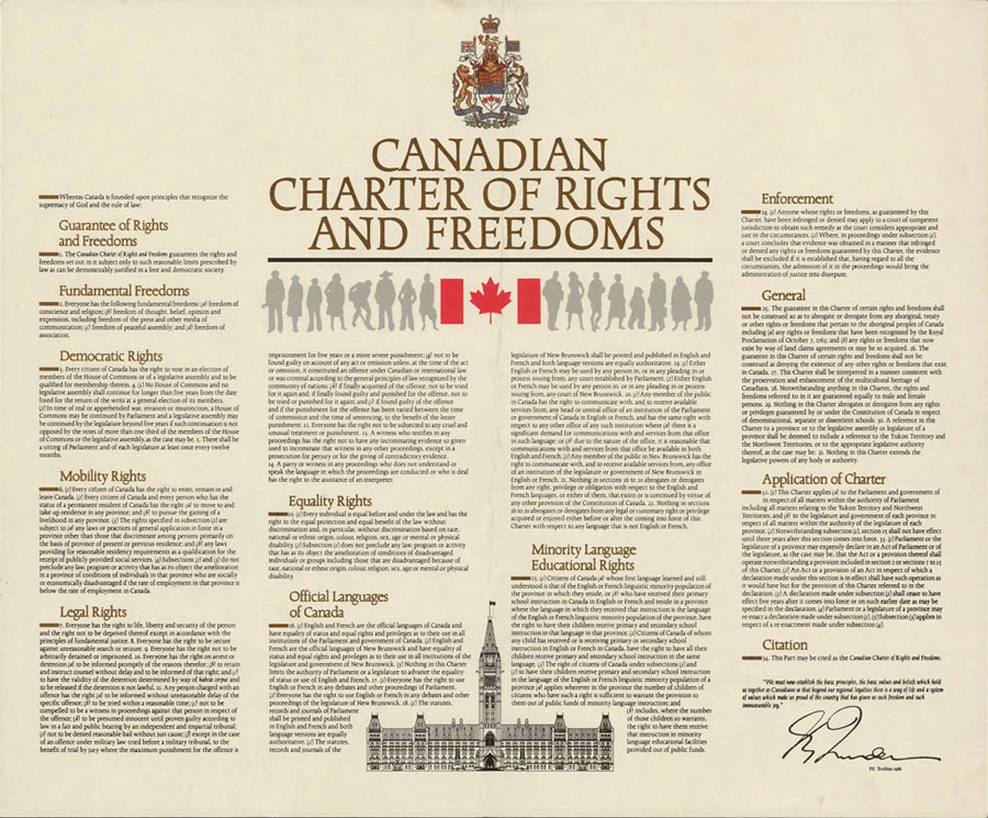 is the canadian charter of rights Introduction the canadian charter of rights and freedoms (charter) was enacted in 1984 and it effectively replaced the bill of rights of 1960 although many of the same rights and freedoms are protected by the charter as by the bill of rights, the charter enhances the protections provided to canadians by increasing the.
